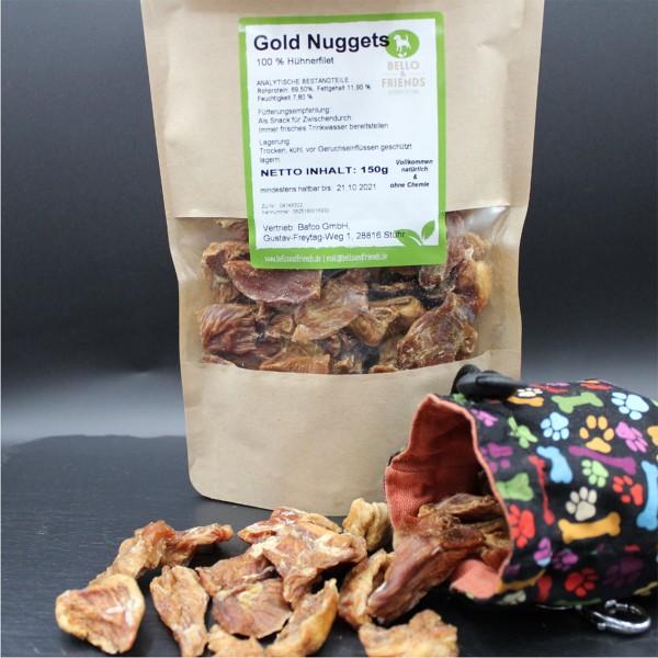 Gold Nuggets, getrocknete Hühnerfiletstücke